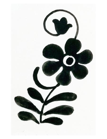 Decoración a Pincel básico black