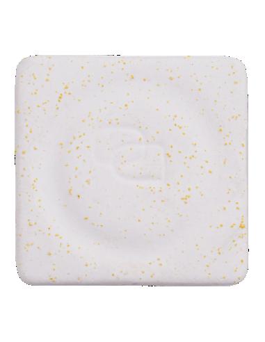 Porcelanas Masa Plástica blanca picas amarillas