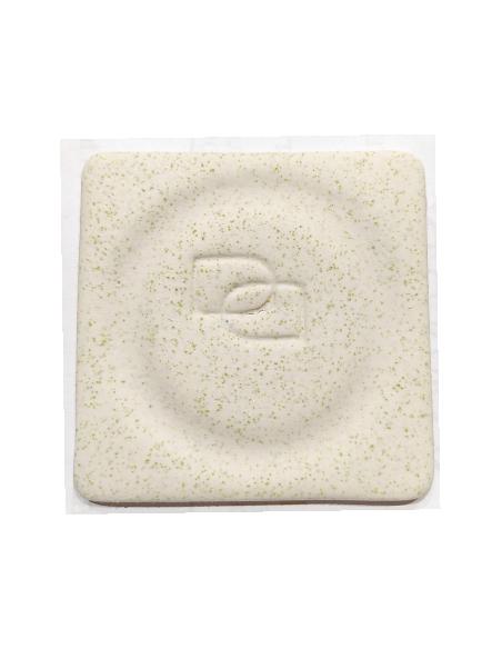 Porcelanas Masa Plástica blanca picas pistacho